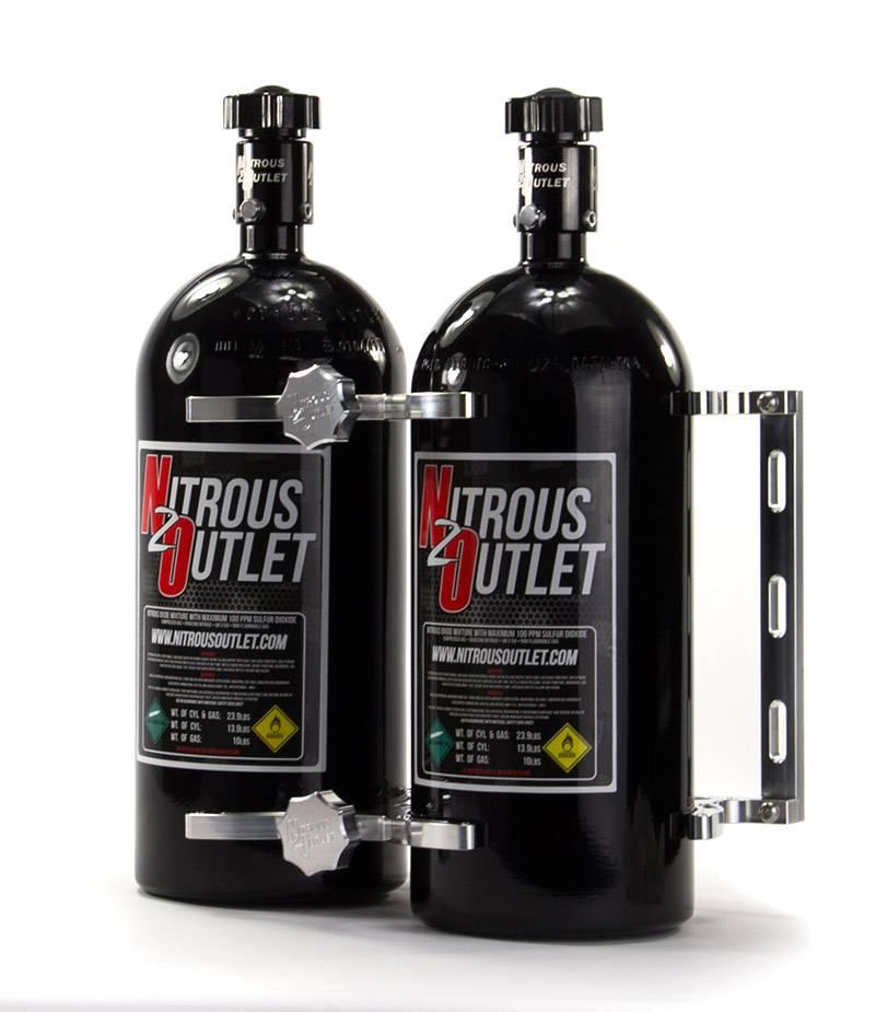 Vertical Mount Nitrous Outlet Single Billet 10lb//15lb Nitrous Bottle Bracket