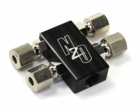 Compact Billet 1 in 4 Out Distribution Block With Compression Fittings