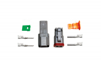 2-Pin Deutsch Connector Kit (14-16ga)