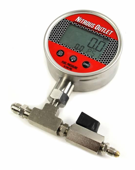 Digital Flowing Fuel Pressure Test Gauge (0-100 PSI Gauge)