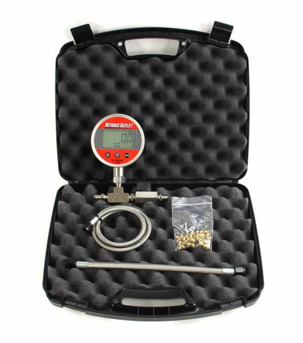 Digital Flowing Fuel Pressure Test Gauge 0 100 Psi Gauge