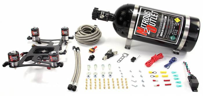 4150 Dual Stage Hornet Plate System With Boomerang Offset 4 Solenoid Bracket(100-700HP)