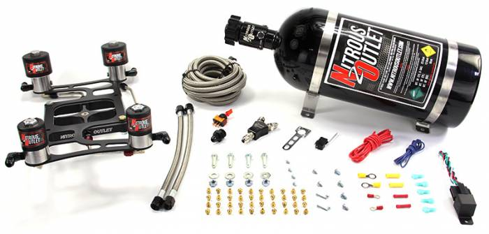 """""""Race"""" 4500 Dual Stage Hornet Plate System With Boomerang Offset Solenoid Bracket(100-700HP)"""