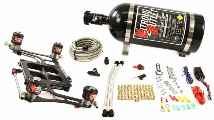 4500 GENIII Dual Stage Hornet Plate System With Boomerang Offset 4 Solenoid Bracket(100-800HP)