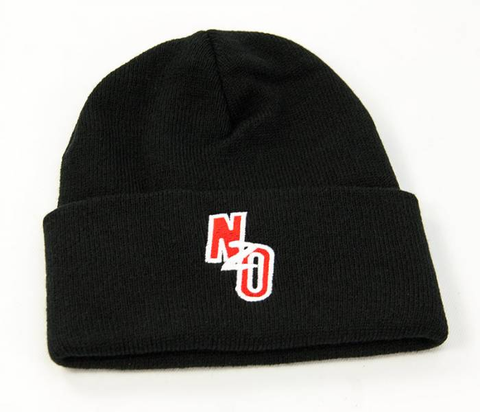 Black Beanie with Nitrous Outlet logo (Fold up style)