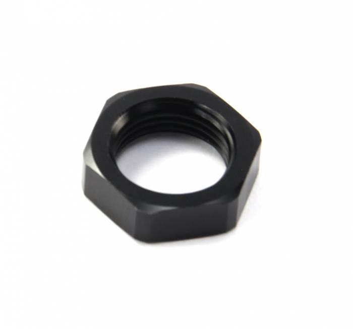 Flo Supply - -8 Bulkhead Nut Black