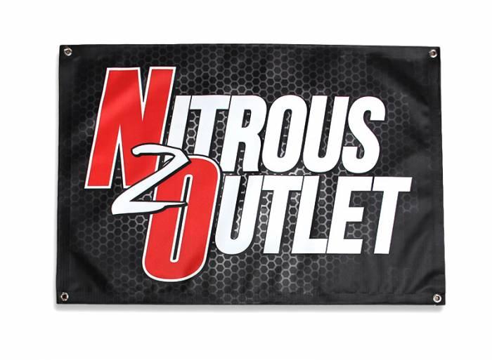 Nitrous Outlet Black Promotional Banner (2'x3')