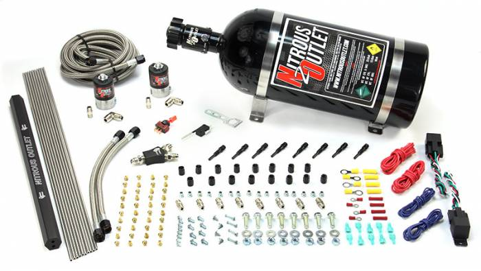 EFI 4 Cylinder 2 Solenoid Dual Stage Dry Direct Port System With Single Rail