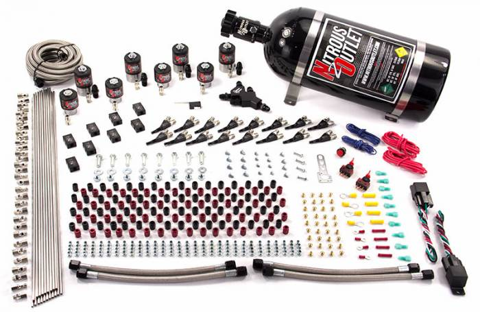 8 Cylinder Racers Option Dual Stage Direct Port Nitrous System