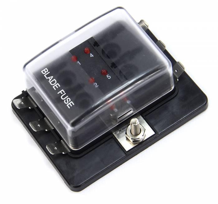 6-Way Powered LED Fuse Block