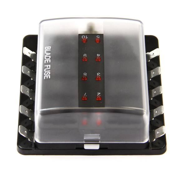 10-Way Powered LED Fuse Block