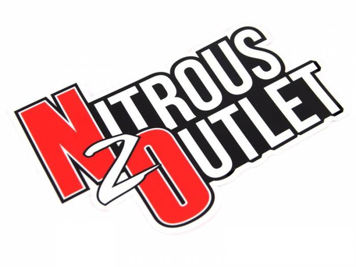 Nitrous Outlet Contour Cut Sticker (Medium 8X6) *Free Shipping*