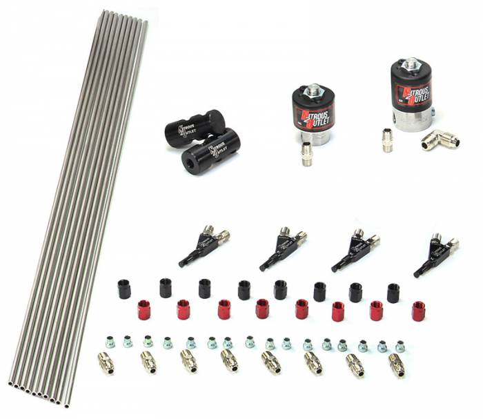 4 Cylinder 2 Solenoids Forward Plumbers Kit With Distribution Blocks and SBT Nozzles