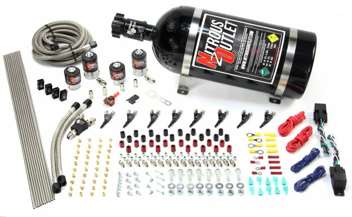 4 Cylinder 4 Solenoid Dual Stage Direct Port System With Distribution Blocks, SBT Nozzle (Methanol)