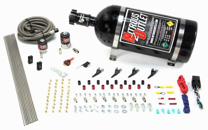 4 Cylinder 2 Solenoid Direct Port System With Distribution Blocks, SBT Nozzle (Gas)