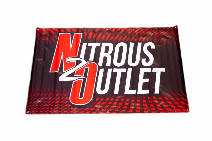 Nitrous Outlet Banner - Black & Red (3'x5')