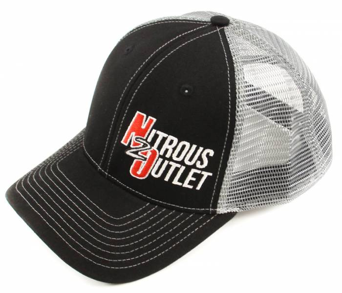 Nitrous Outlet Hat With Small Logo (Black With Grey Mesh)