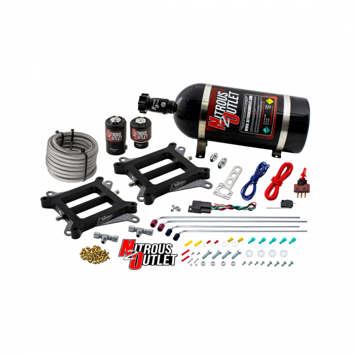 Nitrous Outlet Weekend Warrior 4150 Tunnel Ram Dual Plate System