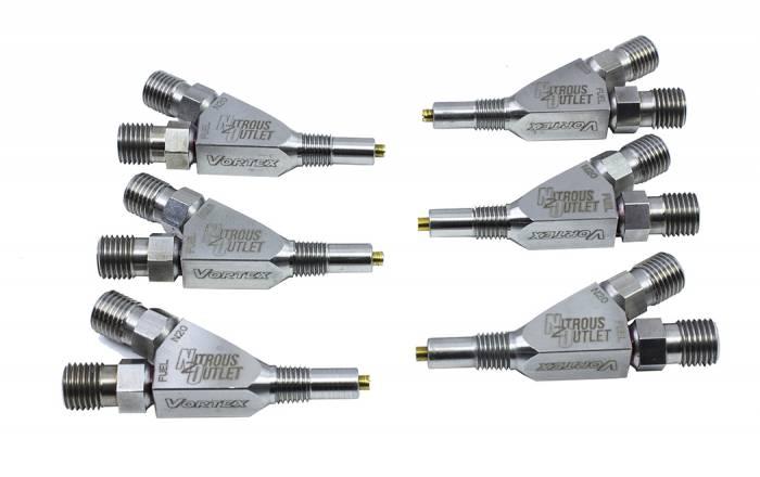 """Titanium Vortex 1/16"""" NPT Wet Nozzle - 6 Pack"""