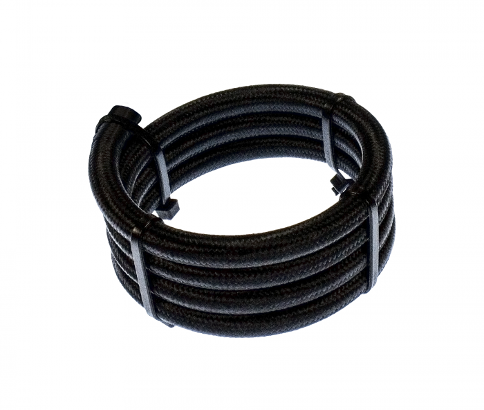 6AN Fuel Hose - Black Stainless Steel Braided