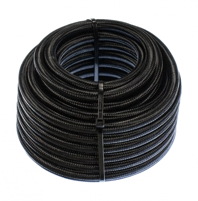 8AN Fuel Hose - Black Stainless Steel Braided