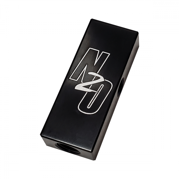 """Nitrous Outlet Trident 1 In 4 Out Distribution Block - 1/8"""" NPT Inlet, 5/16-24"""" Outlets"""