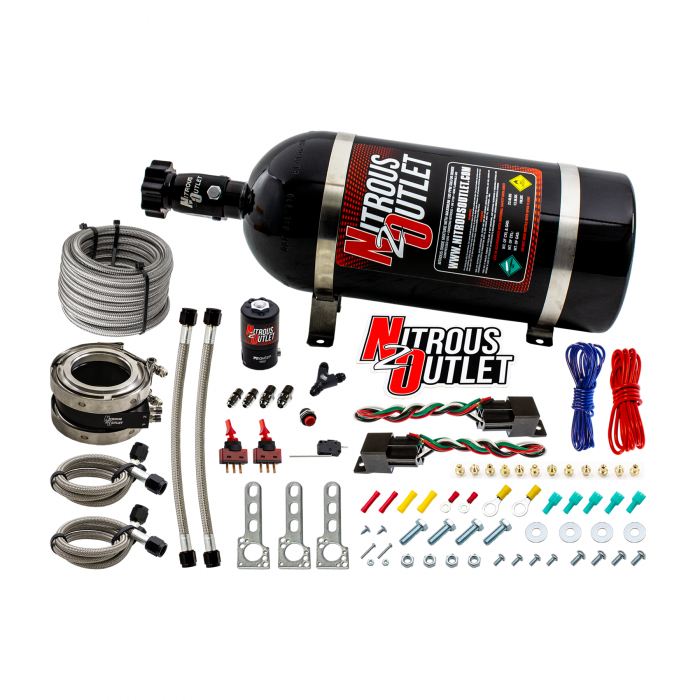 """Nitrous Outlet Interspooler 3"""" Dual Stage Dry Nitrous Plate System"""