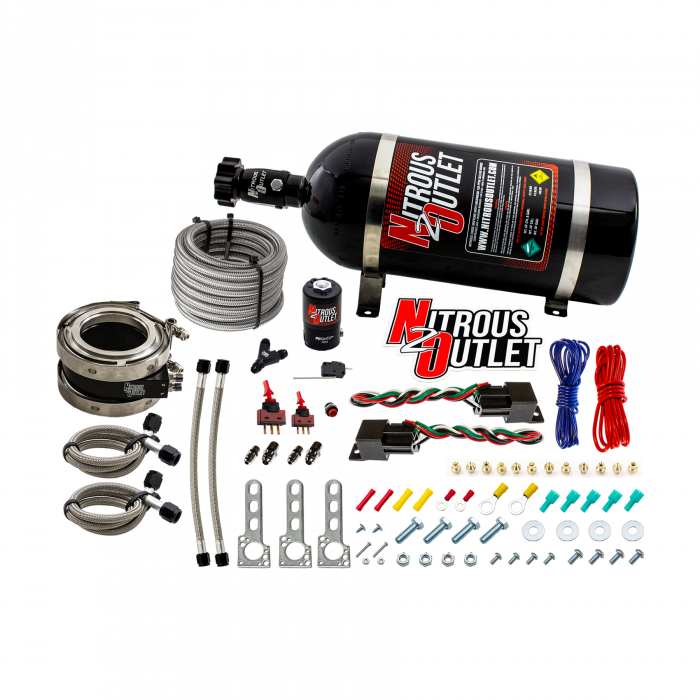 """Nitrous Outlet Interspooler 4"""" Dual Stage Dry Nitrous Plate System"""