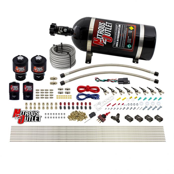 8 Cylinder Single Stage Direct Port Nitrous System - .178 Nitrous/.310 Fuel Solenoids