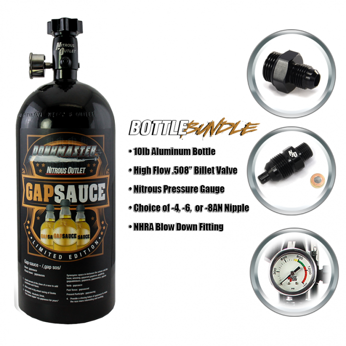 "Limited Edition DonkMaster ""Gap Sauce"" 10lb Nitrous Bottle Bundle!"