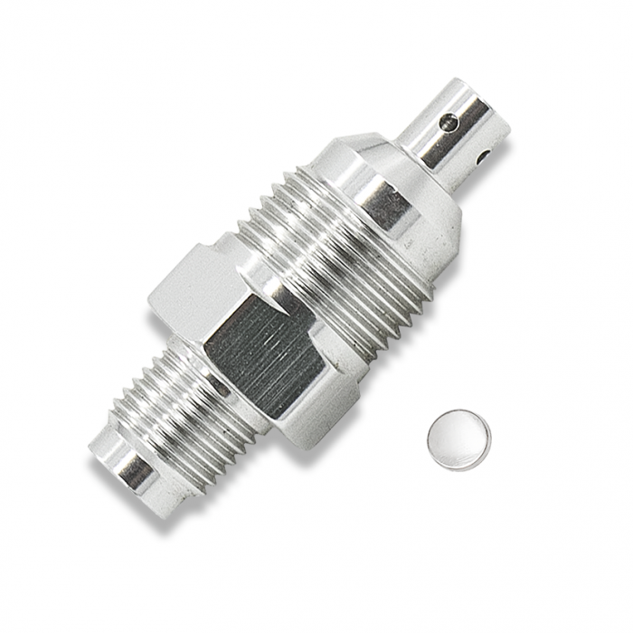 Nitrous Outlet Pressure Relief Valve - 3,000 psi Rupture Disc