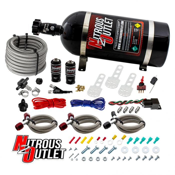 X-Series Sport Compact EFI Single Nozzle System - Gas/E85 - 5-55psi