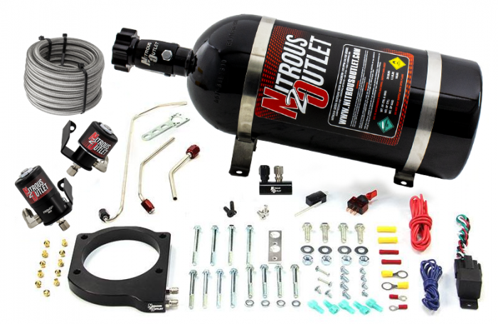MSD Atomic AirForce LS1 Intake Hard-Lined Plate System for Aftermarket Fuel Rails