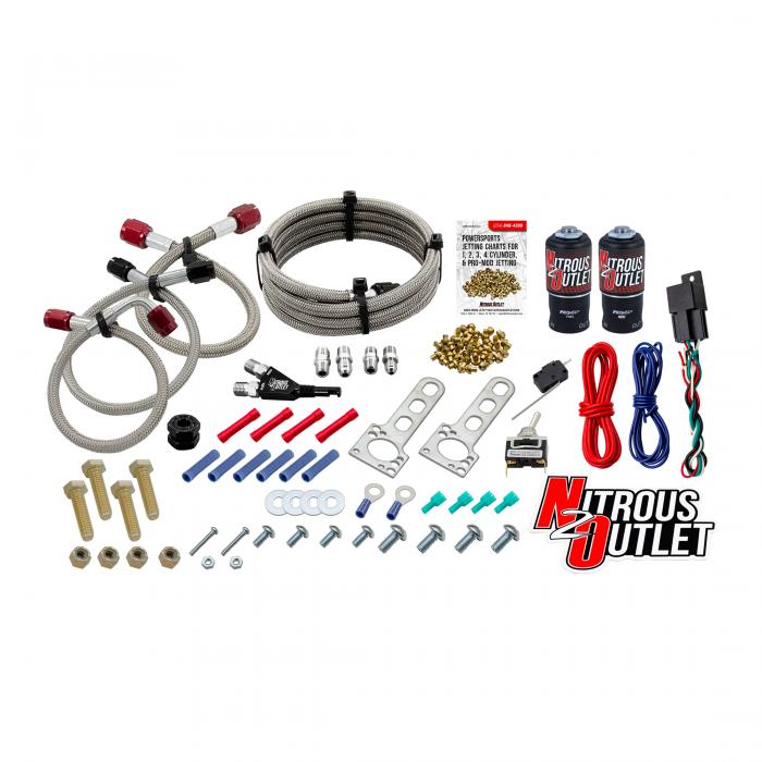 Nitrous Outlet Powersports SxS Single Cylinder Wet Nozzle System