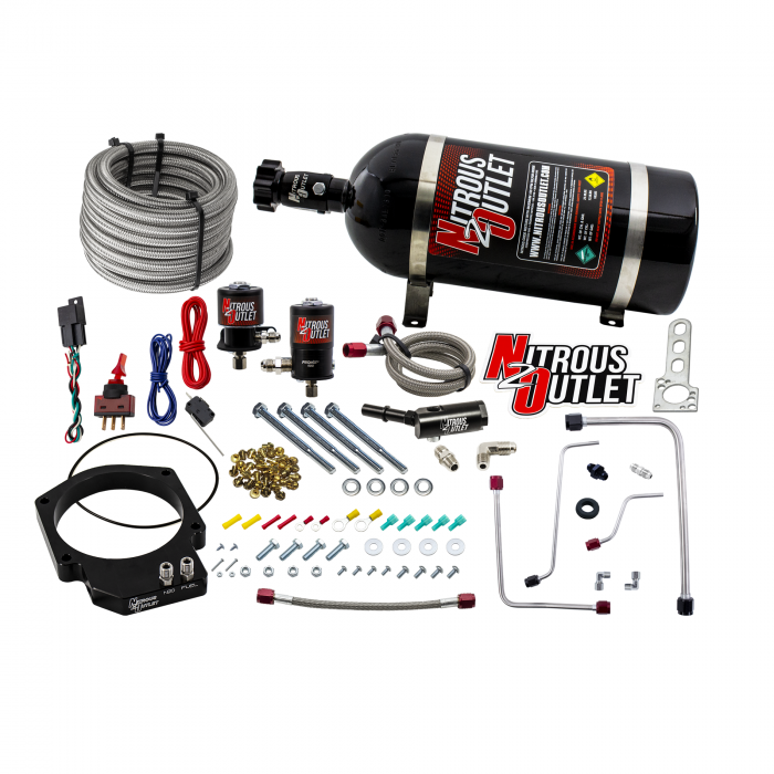 Nitrous Outlet GM LT4 2016-2019 CTS-V3 103mm Throttle Body Plate System - Gas/E85 (5-55 psi)(50-200hp)