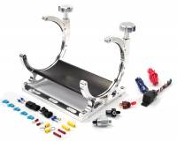 Vertical Automatic Billet Heated Nitrous Bottle Bracket with Install Accessories - Image 1