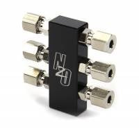 Compact Billet 1 in 6 Out Distribution Block With Compression Fittings - Image 2