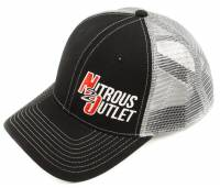 Nitrous Outlet Hat With Small Logo (Black With Grey Mesh) - Image 1