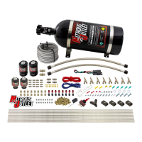 8 Cylinder Single Stage Direct Port Nitrous System - .112 Nitrous/.177 Fuel Solenoids - Straight Blow Through Nozzles