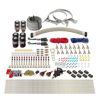 8 Cylinder Dual Stage Direct Port Nitrous System - .112 Nitrous/.177 Fuel Solenoids - Straight Blow Through Nozzles