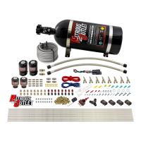 8 Cylinder Single Stage Direct Port Nitrous System - .122 Nitrous/.177 Fuel Solenoids - E85 - Straight Blow Through Nozzles