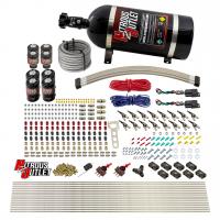 8 Cylinder Dual Stage Direct Port Nitrous System - .112 Nitrous/.177 Fuel Solenoids - E85