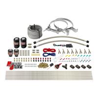 8 Cylinder Single Stage Direct Port Nitrous System - .112 Nitrous/.177 Fuel Solenoids - E85 - Straight Blow Through Nozzles