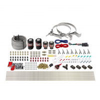 8 Cylinder Single Stage Direct Port Nitrous System - .122 Nitrous/.177 Fuel Solenoids - Straight Blow Through Nozzles