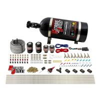 8 Cylinder Dual Stage Direct Port Nitrous System - .122 Nitrous/.177 Fuel Solenoids - Straight Blow Through Nozzles