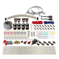 8 Cylinder Dual Stage Direct Port Nitrous System - .122 Nitrous/.177 Fuel Solenoids - Alcohol