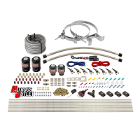 8 Cylinder Single Stage Direct Port Nitrous System - .112 Nitrous/.177 Fuel Solenoids - Alcohol