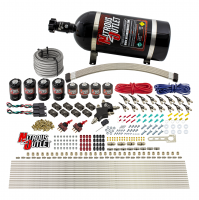 8 Cylinder Dual Stage Direct Port Nitrous System - .112 Nitrous/.177 Fuel Solenoids - Alcohol