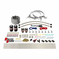 8 Cylinder Single Stage Direct Port Nitrous System - .112 Nitrous/.177 Fuel Solenoids - Alcohol - Straight Blow Through Nozzles