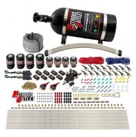 8 Cylinder Dual Stage Direct Port Nitrous System - .122 Nitrous/.177 Fuel Solenoids - E85